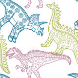 Dinosaurs pattern Stock Photo