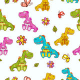 Dinosaurs pattern Stock Images