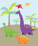 Dinosaurs picture Stock Image