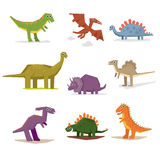 Dinosaurs and prehistoric period vector illustration