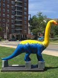 Dinosaurs Rule! in Stamford Downtown Royalty Free Stock Photography