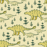Dinosaurs seamless pattern Stock Photos