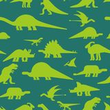 Dinosaurs seamless pattern. Dino texture. Prehistoric monster li. Zard background. Ancient animal cartoon style. Childrens cloth ornament. Vector illustration Stock Photo