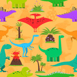 Dinosaurs Seamless Pattern Royalty Free Stock Images