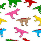 Dinosaurs seamless pattern. Royalty Free Stock Photo