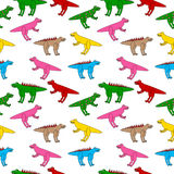 Dinosaurs seamless pattern. Stock Photography
