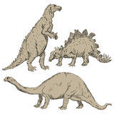 Dinosaurs set Royalty Free Stock Photo