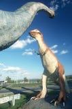 Dinosaurs som vägrendragning royaltyfri fotografi