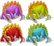 Dinosaurs with spikes tail Stock Photos