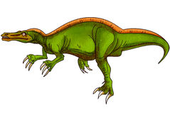 Dinosaurs:suchomimus. It is a big strong green alligator dinosaurs Stock Photography