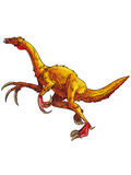 Dinosaurs:therizinosaurus. It has claws like sickles Royalty Free Stock Photography