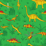 Dinosaurs and trees Royalty Free Stock Photography