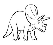 Dinosaurs Triceratops outline  Stock Photos