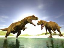 dinosaurs två Arkivfoto