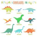 Dinosaurs types Stock Photos