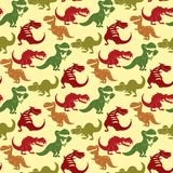 Dinosaurs vector dino animal tyrannosaurus t-rex danger creature force wild jurassic predator prehistoric extinct. Illustration. Angry powerful large dinosaurs stock illustration