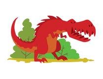 Dinosaurs vector dino animal tyrannosaurus t-rex danger creature force wild jurassic predator prehistoric extinct. Illustration. Angry powerful large dinosaurs Stock Photography
