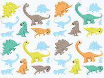 Dinosaurs Wallpaper Stock Photography