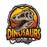 Dinosaurs world emblem Royalty Free Stock Photo