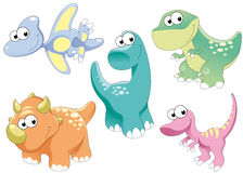 dinosaursfamilj Arkivbilder