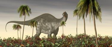 Dinosaurus Brontosaurus vector illustratie