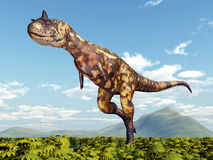 Dinosaurus Carnotaurus Stock Foto's