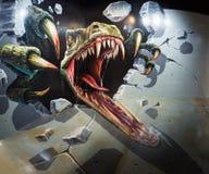 Dinosaurus 3D Art. Stock Afbeeldingen