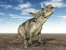 Dinosaurus Diabloceratops stock illustratie