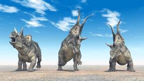 Dinosaurus Diabloceratops royalty-vrije illustratie