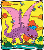 Dinosaurus Dimorphodon Stock Afbeelding