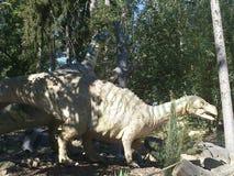 Dinosaurus in dinopark stock fotografie