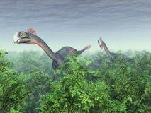 Dinosaurus Gigantoraptor royalty-vrije illustratie
