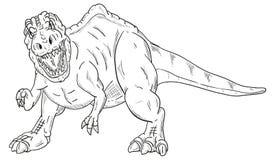 Dinosaurus het aanvallen Royalty-vrije Stock Afbeelding