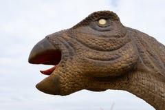 Dinosaurus hoofd dichte omhooggaand royalty-vrije stock foto