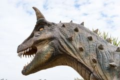 Dinosaurus hoofd horizontale samenstelling royalty-vrije stock foto