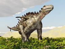 Dinosaurus Huayangosaurus royalty-vrije illustratie