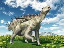 Dinosaurus Huayangosaurus stock illustratie