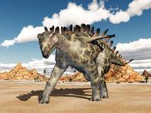 Dinosaurus Huayangosaurus vector illustratie
