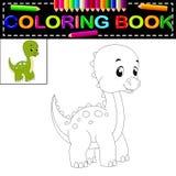 Dinosaurus kleurend boek stock illustratie