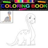 Dinosaurus kleurend boek royalty-vrije illustratie