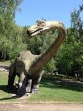 Dinosaurus life-sized model. Life-sized model of dinosaurus at the ZOO in Chorzów, Poland royalty free stock image