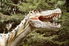 Dinosaurus met open mond stock foto