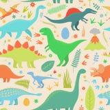 Dinosaurus-Muster Lizenzfreie Stockfotos