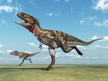 Dinosaurus Nanotyrannus vector illustratie