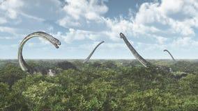 Dinosaurus Omeisaurus Stock Foto's