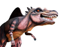 Dinosaurus op witte achtergrond stock foto
