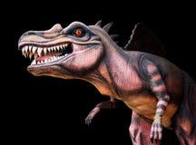 dinosaurus op zwarte achtergrond stock afbeelding