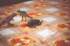 Dinosaurus Plastic Stuk speelgoed stock fotografie