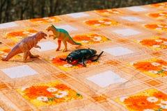 Dinosaurus Plastic Stuk speelgoed royalty-vrije stock afbeeldingen