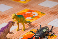 Dinosaurus Plastic Stuk speelgoed royalty-vrije stock foto's